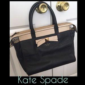 KATE SPADE Black & Cream Handbag.